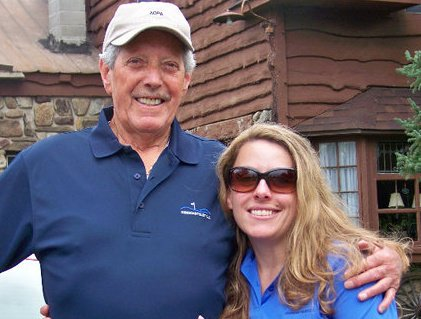 Getting ready for a father-daughter golf outing, circa 2010. (Note the coordinating golf shirts!)