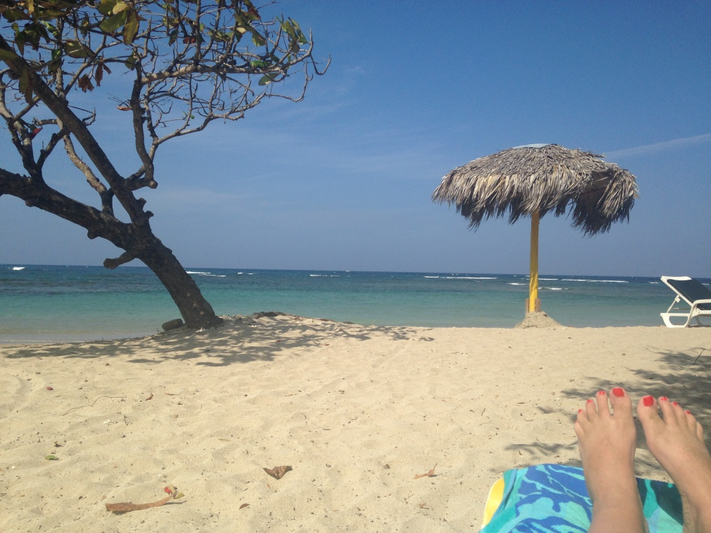 This is what people THINK I'm doing in the Dominican Republic, but really I'm writing. I swear!