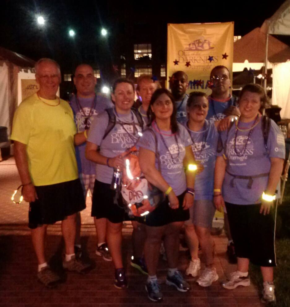 A very weary Team Chenango after completing the 2013 event in DC.