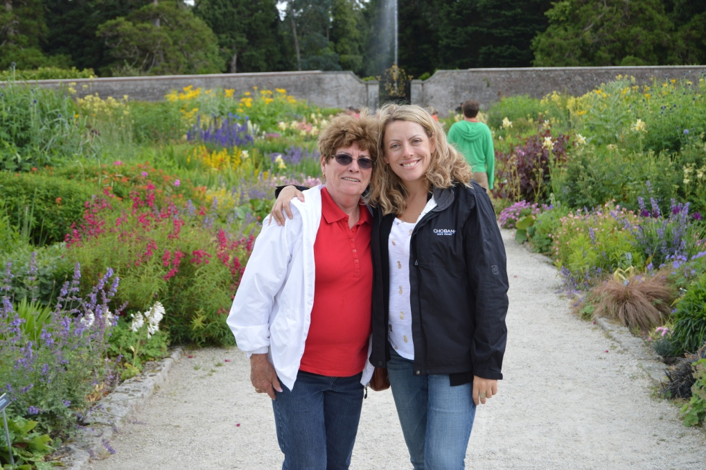 Mumsy and I in the Walled Garden at Powerscourt Estate, Enniskerry, Co. Wicklow, Ireland. July 2014