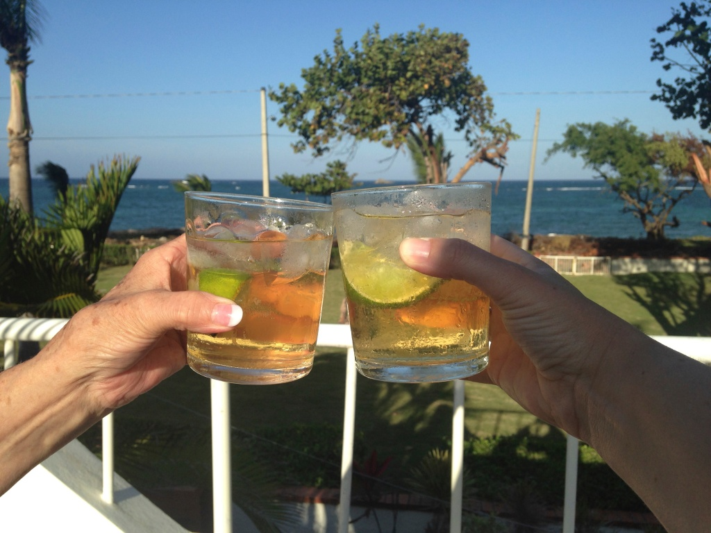 Happy Birthday, Mumsy! (A toast from our trip to the Dominican Republic in January 2014.)