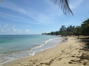 "This is ""the beach"" we were trying to get to: Playa Costambar."