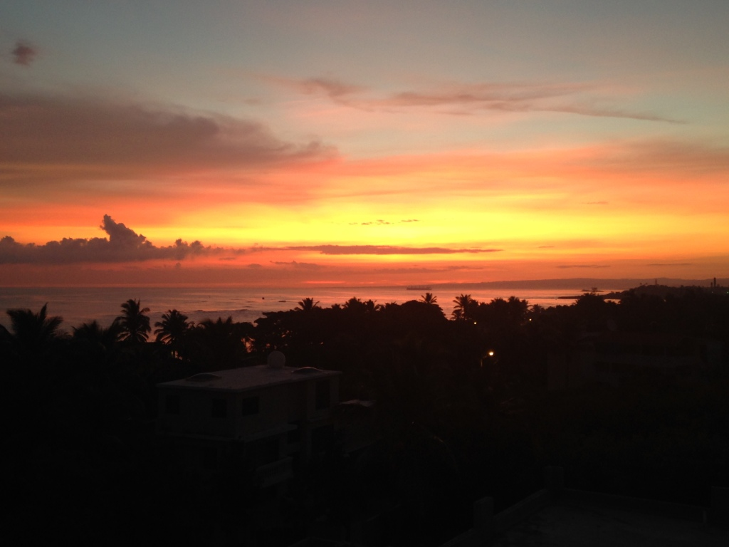 That beautiful tropical vista I was talking about, at sunrise.