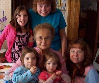 Grandma Jarvis and her 'girls'.