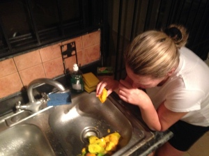 Not my finest hour. But what can I say? The mangoes here are THAT good.