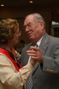 This is how I'll always remember Uncle Bill, dancing with Aunt Cecilia.